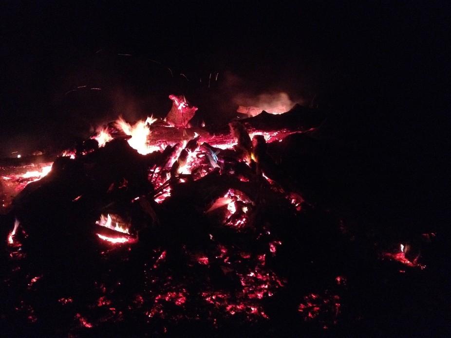 New Years Eve bone fire