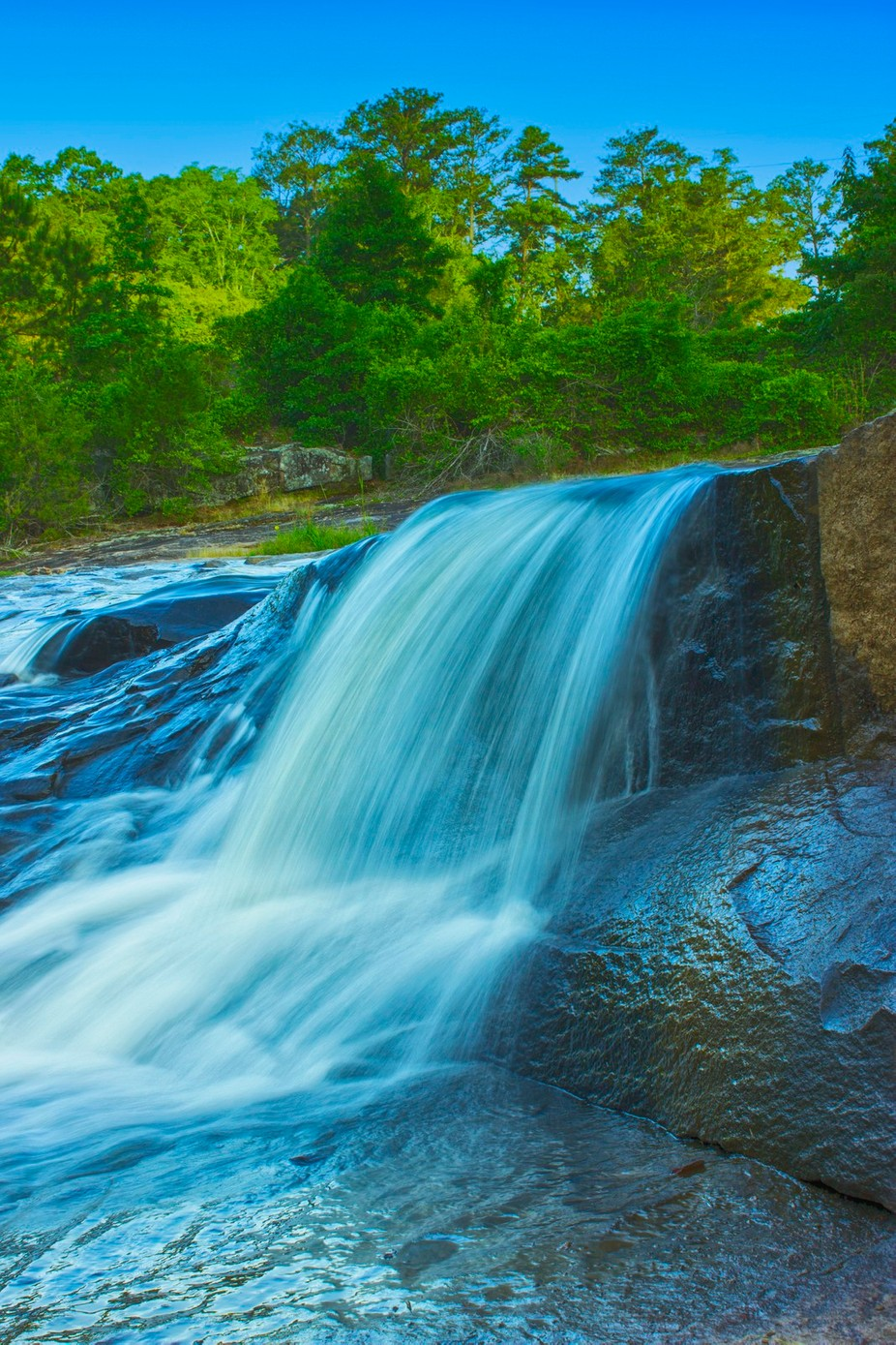 Photo taken at Flat Rock Park, in Columbus, Georgia, and converted into HDR.