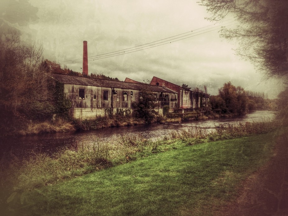 I grew up across from this old run down factory and took this fantastic shot one day on an iphone.