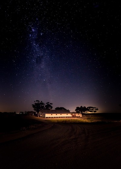 Starry sky over the shearing shed 2