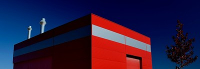 Warehouse in red and white