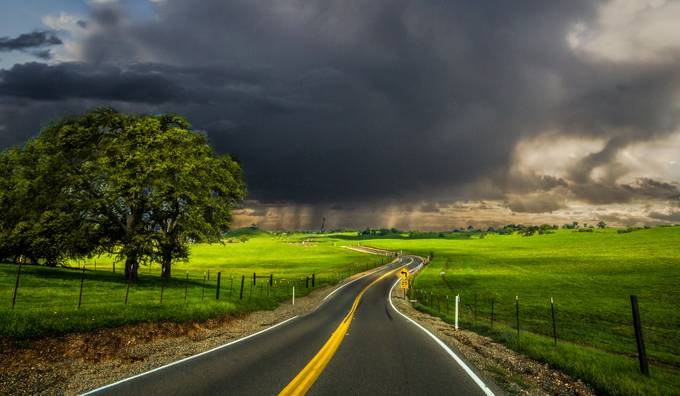 The Approuching Storm by BobKendrick - A Road Trip Photo Contest