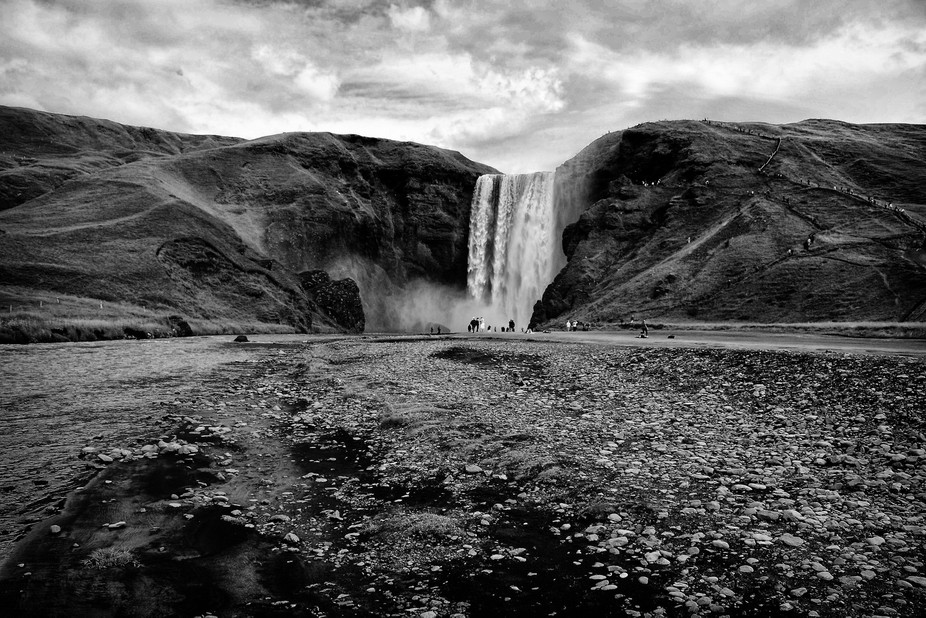 One of the most know waterfall on Iceland.