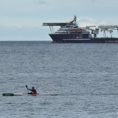 a Fun Boat and a Workie Boat in the Moray Firth