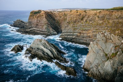 Exposed Rock Formations in Portugal