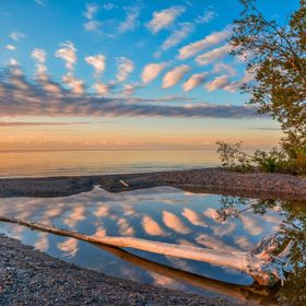 An August morning on Lake Superior in one of its calm moods.