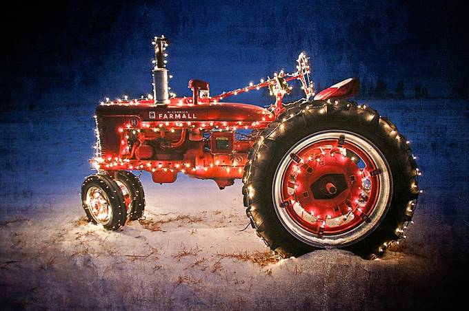 OLD FARMALL TRACTOR by evabrown1 - Holiday Lights Photo Contest 2017