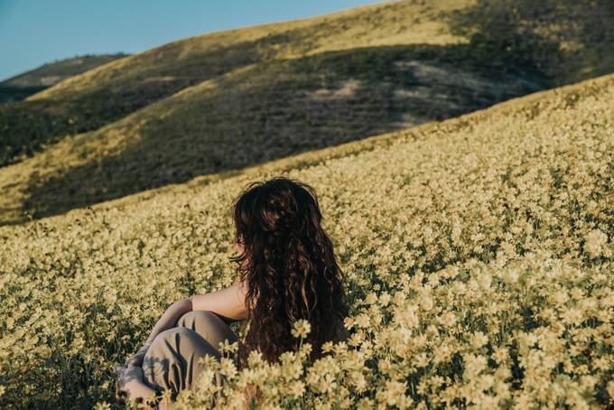 Corrizo Plains Superbloom - Self Portrait - Bessie Young Photography by Bessieyoungphotography - Sitting In Nature Photo Contest