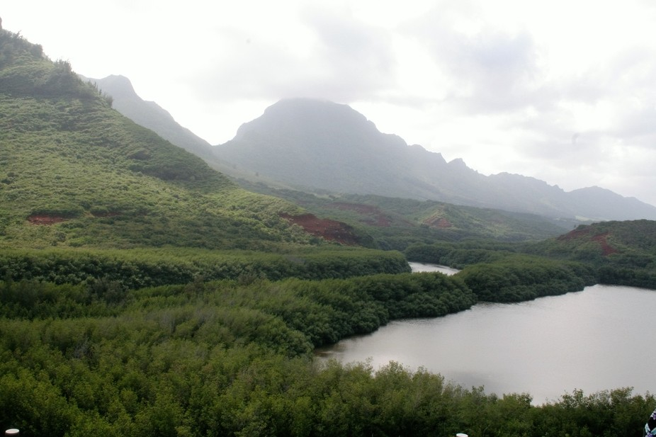 A glumy day in an Hawaiian island of Oahu