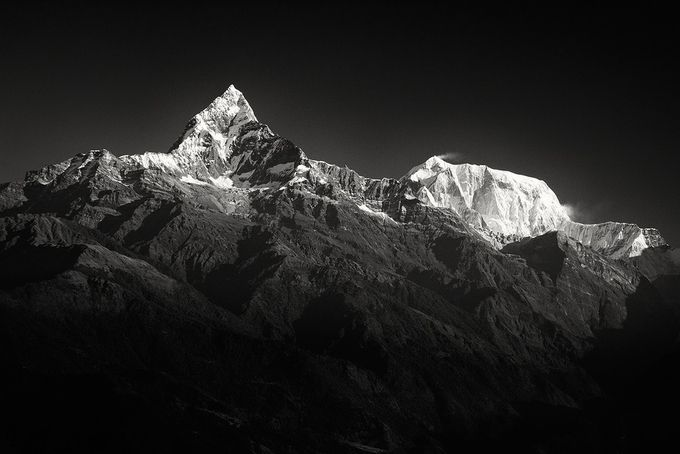 Annapurna's by andrewjohnsonfotography - Black And White Mountain Peaks Photo Contest