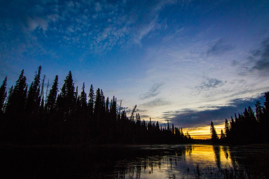 Sunset of the Porcupine Forest, Saskatchewan