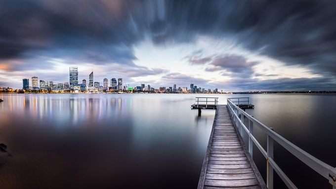 www.AleksTrpkovski.com perth from the piar by Aleks_Trpkovski - The Moving Clouds Photo Contest