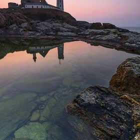 Transparency and reflections at the Pointe Saint-Mathieu (Finistère, Brittany, France).