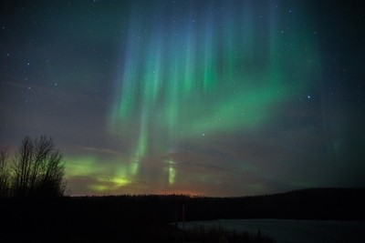 Auora Borealis in Northern Alberta. One of the advantages to living in Northern Alberta os getting to see the Auora Borealis or otherwise known as the northern lighs