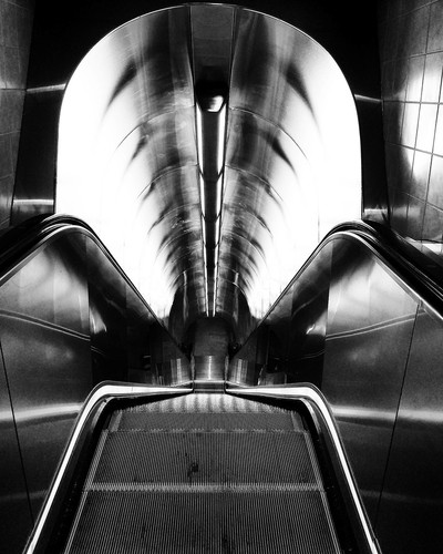 Looking Down - Escalator