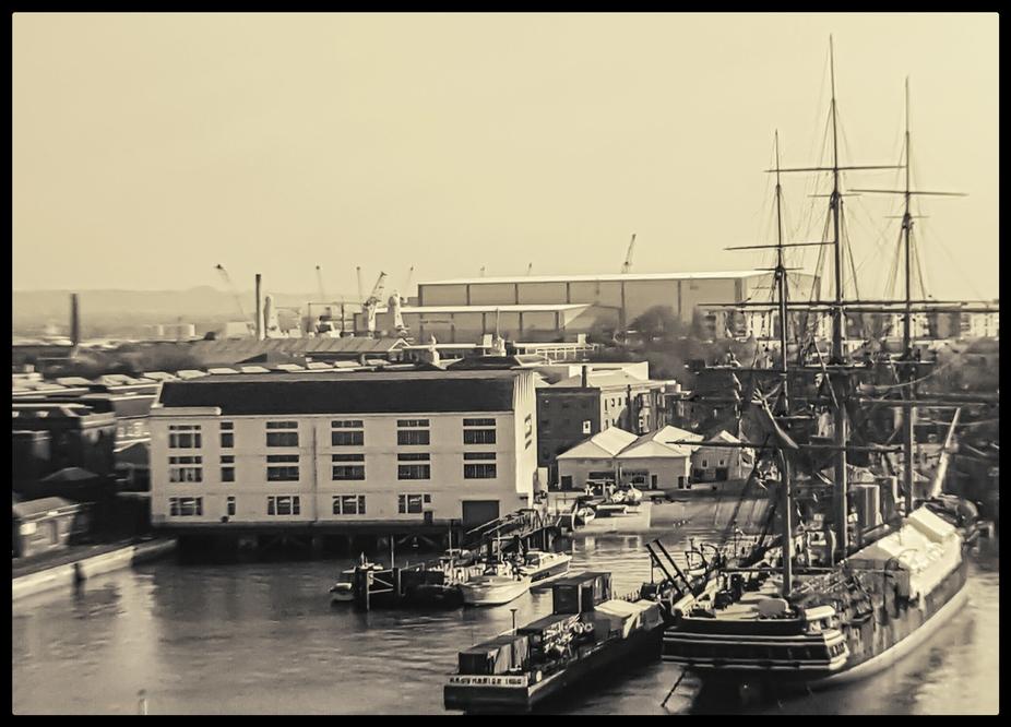 HMS Warrior vintage
