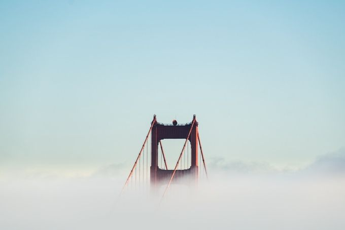 Golden Gate Emergence by sortino - Show Minimalism Photo Contest