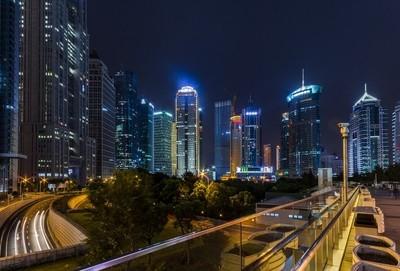 Night in modern metropolis