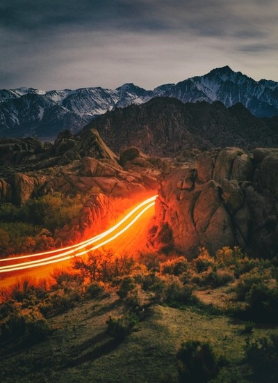 Driving Through Alabama Hills