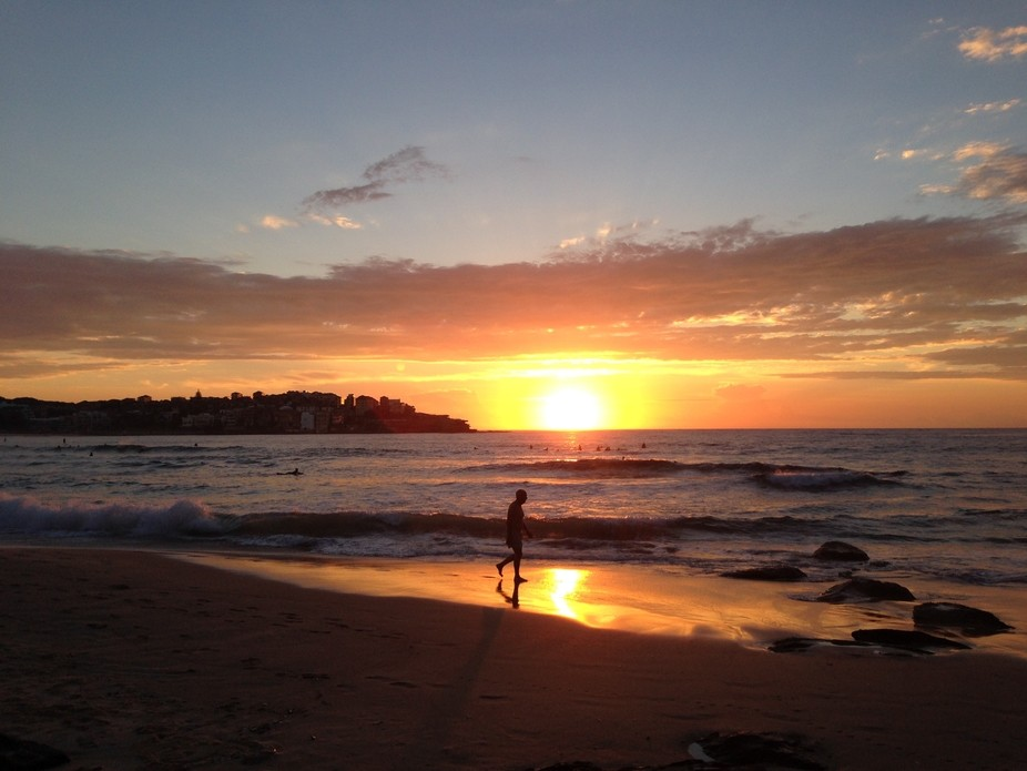 Sun rise on Manly beach