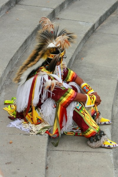 Round Dancer at a Pow Wow