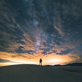 I came to White Sands National Park to catch the Milky Way and to catch the bonus of a sunset/sunrise as I wandered the park at night.  At first ...