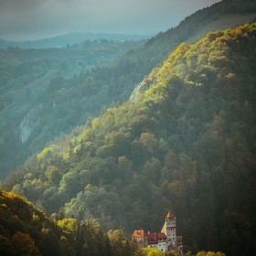 View of Bran Castle on a cold October day.
