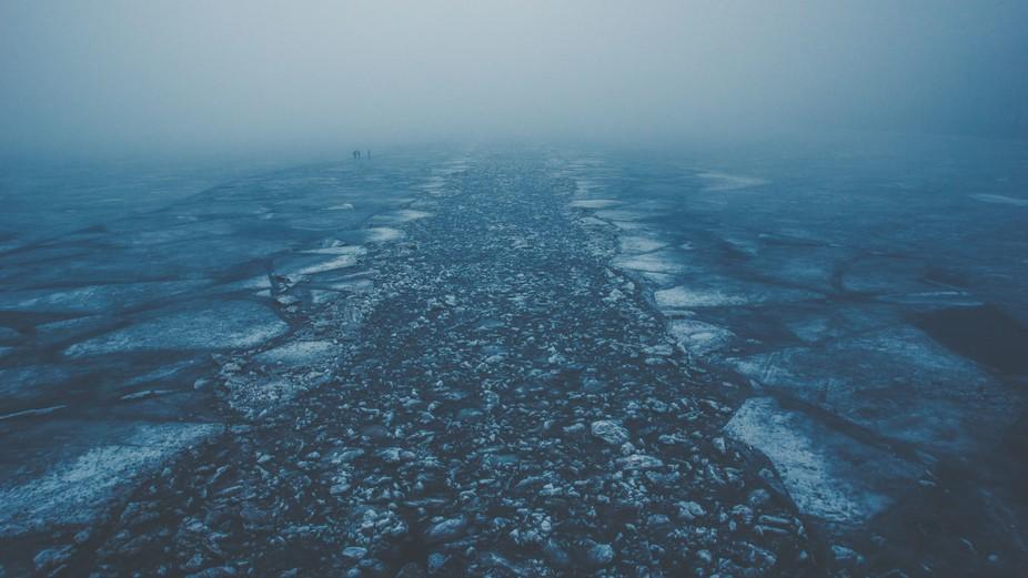 Ice drift on the Neva River