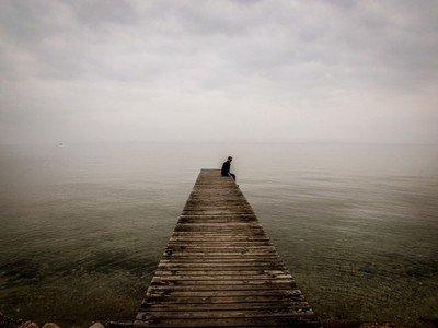 Sitting near the Lake