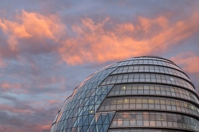 Sunset over the Mayor of London Offices