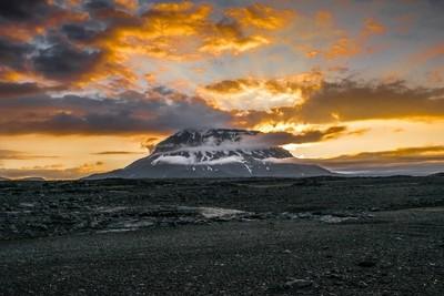 Mt. Herdubreid at sunset