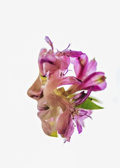 Double exposure with flowers - 1