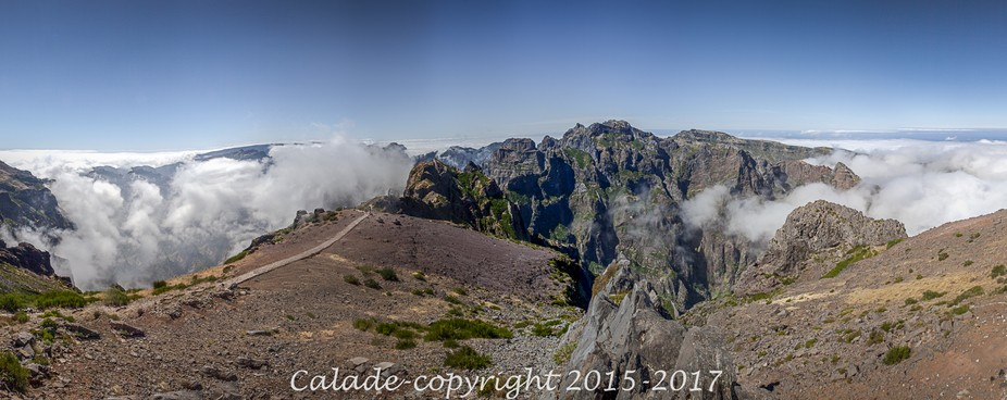 On the top of Madeira Island, or the top of the world...above the clouds ! A nice trek links both...