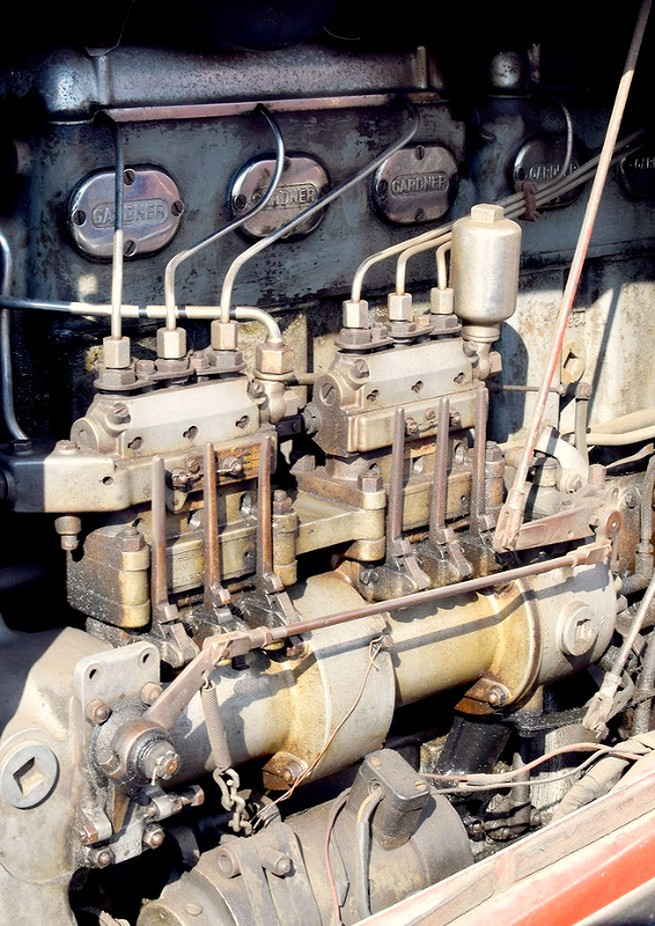 Gardner Diesel engine on Vintage Scammel Truck