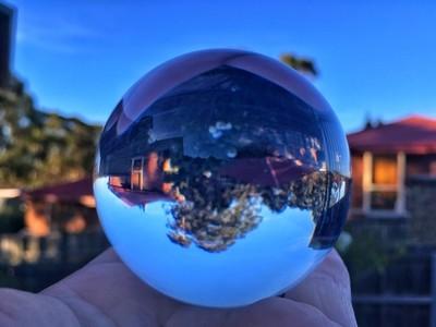 Playing around with our new #sphere #upsidedown #discovertasmania #tasmaniagram #hobartandbeyond #instatassie #tassiepics #tassie #hobart #southerntasmania  #tassiestyle #australiagram #focusaustralia #ig_discover_australia #australia_shotz #ig_down_under