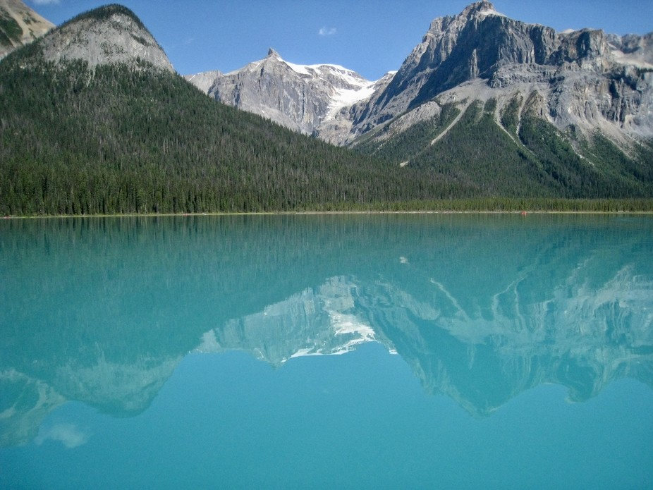 YoHo National Park in Canada.   This is Emerald Lake - and true to it's name.  We were i...