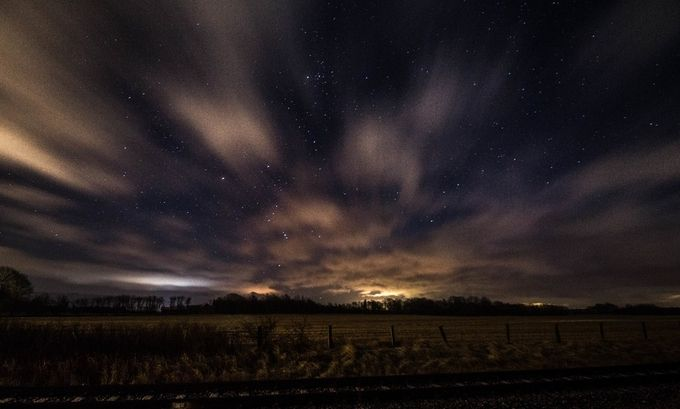 Starry Night by ildsvad - The Moving Clouds Photo Contest