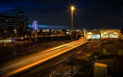 Train Light Trails