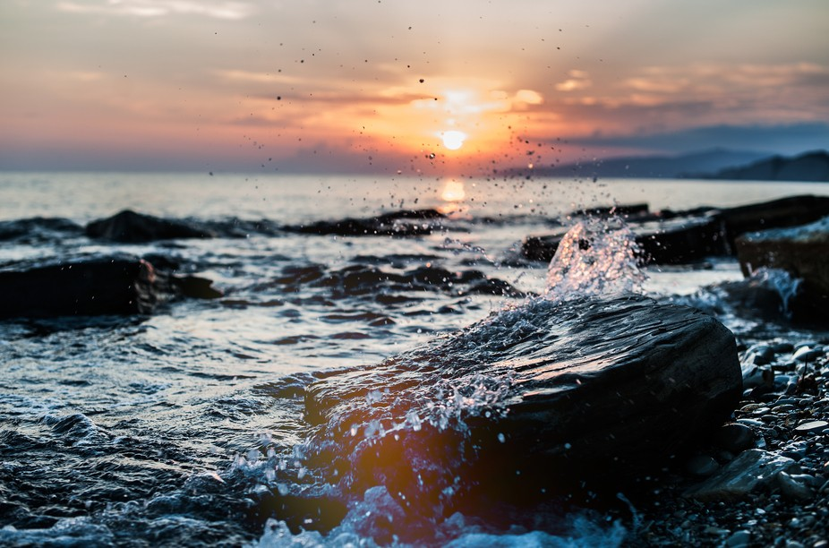 Sunset at black sea.