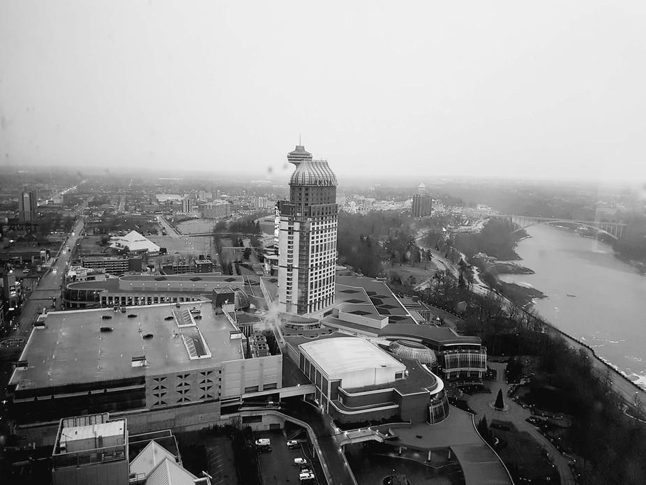 Taken from top of hotel in niagara.