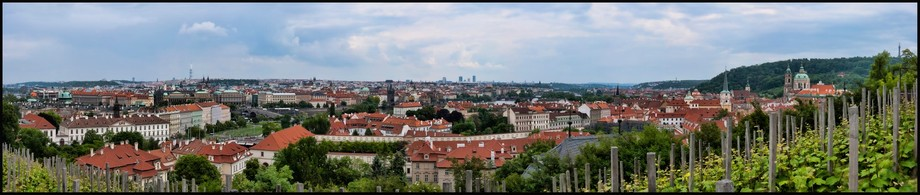 Panorama overlooking the city of Prague