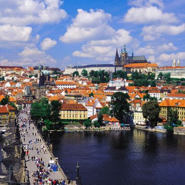 Prague with tilt shift lens.