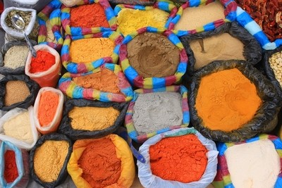 Colorful Bags of Spices