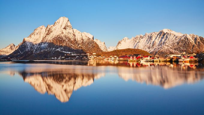 Reine wakes up by johnygoerend - Blue Skies Photo Contest