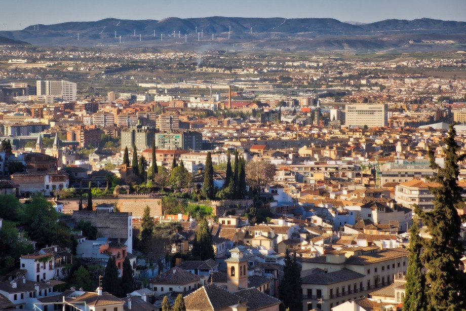 View of Granada.Picture taken from San Nicolas hill in Granada, Spain