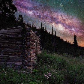 Cabin and the Milky Way