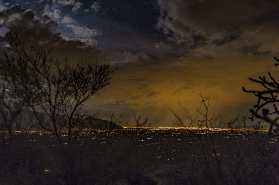 Monsoon Cell during a full moon over Tucson, Arizona