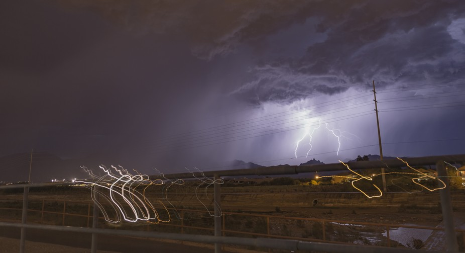This is what happens when you stat moving the camera in the direction of where you think lightning will strike and get super lucky.