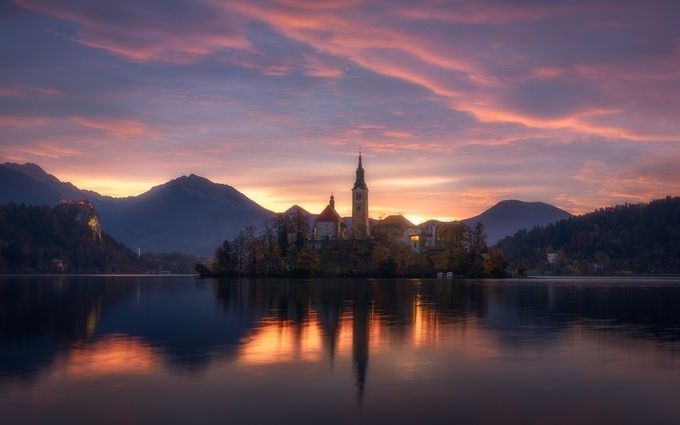 Burning Morning in Slovenia by Daniel-Photography - Iconic Places and Things Photo Contest