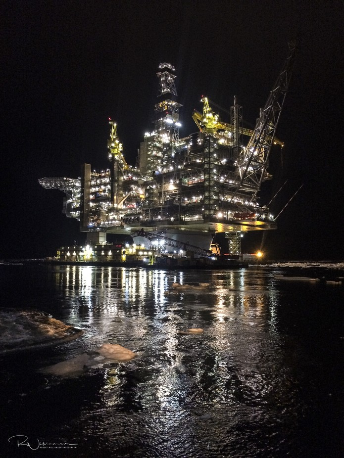 Hebron Offshore Oil Platform by robwill236 - Industry Photo Contest